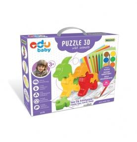 Puzzle Zoo 3D Wild Animals - puzzle edukacyjne