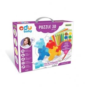 Puzzle Zoo 3D Pets - puzzle edukacyjne