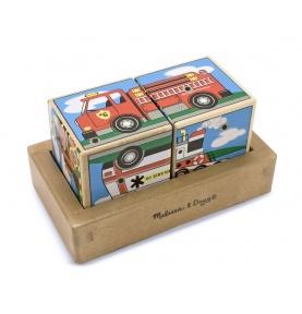 Sześcienne Puzzle Dźwiękowe – Pojazdy