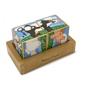 Sześcienne Puzzle Dźwiękowe – Farma