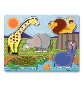 Puzzle Dotknij i Poczuj Zoo