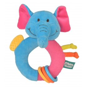 Pluszowy Gryzak-Grzechotka Słoń