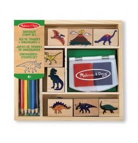 Zestaw stempli - Dinozaury