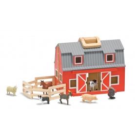 Przenośna drewniana składana farma