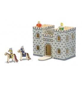 Przenośny drewniany składany zamek